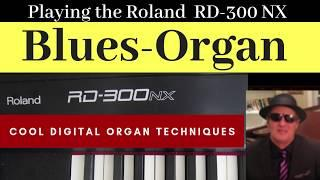 BLUES ORGAN - Playing funky jazz blues on the Roland RD-300 Keyboard,