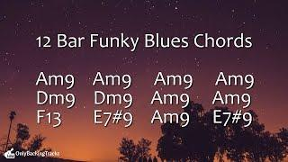 Funky Blues Groove Backing Track (A Minor) 115 Bpm