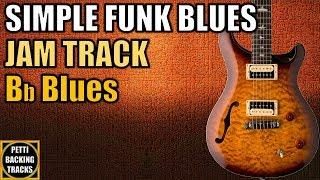 Simple Funky Blues Guitar Backing Track Jam in Bb Blues