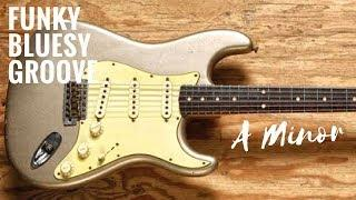Funky Bluesy Groove | Guitar Backing Track Jam in Am
