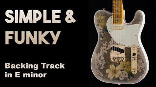 Simple Funky Backing track in Em SZBT 28