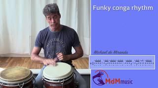 Funky rhythm for congas part 2 - Free lesson