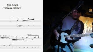 Josh Smith - Funky blues lick from 'Black Cat Bone' - Best lick (animated tab - Fast & slow)