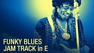 Funky Blues Guitar Backing Track - Jimi Hendrix Style in E