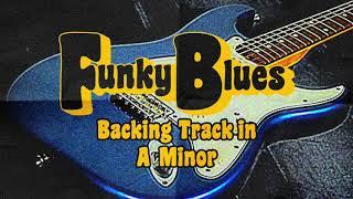 Funky Blues Guitar Backing Track in A Minor