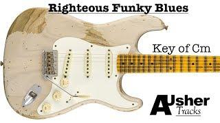 Righteous Funky Blues in C minor | Guitar Backing Track