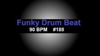 Funky Rock Drum Beat 90 BPM Funk Drum Track For Bass Guitar Loop