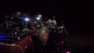Ballando Afro Funky  a Nago con dj Bibo Nigra Vox e Ricky Comanche  Percussionista  01 06 19