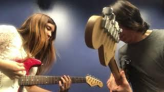 Berklee Guitar private lesson / Jamming Funky groove with Andrea  / Tomo Fujita