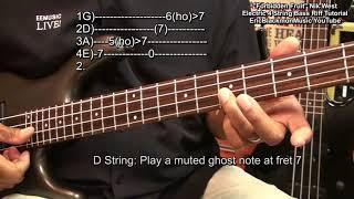 How To Play FORBIDDEN FRUIT Nik West Funky Bass Guitar Lesson EricBlackmonGuitar HQ