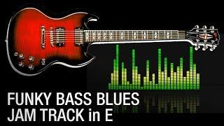 Funky Slap Blues Rock Backing Jam Track in E 115 bpm