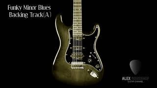 Funky Minor Blues Backing Track in A