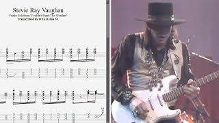 Stevie Ray Vaughan - Funky rhythm from 'Couldn't Stand...' - Best lick (animated tab - Fast & slow)