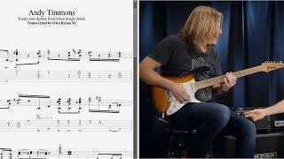Andy Timmons - Funky soul rhythm from Mesa boogie demo - Best lick (animated tab - Fast & slow)
