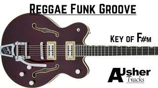 Funk Groove Reggae inspired | Guitar Backing Track in F# minor