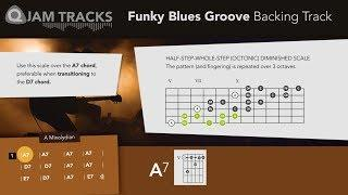 Funky Blues Groove in A mixolydian Backing Track *PLUS*