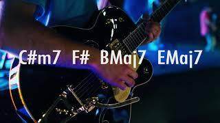 Funky Groove Style Guitar Backing Track in G#m