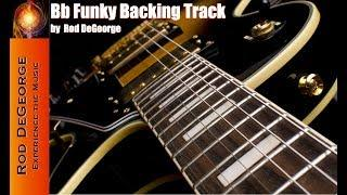 Bb to D Dominant Mixolydian Funky Backing Track