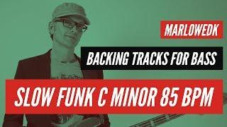 Funky backing track for bass in Cm, 85 bpm
