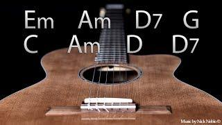 Acoustic Funky Backing Track Jam E Minor