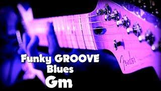 Funky GROOVE Blues in G minor Backing Track for Guitar (2018)