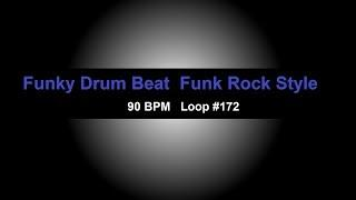 Funk Drum Beat 90 BPM Funky Groove Drum Track For Bass Guitar Loop