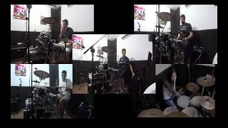 Wild Cherry - Play the Funky Music ( drum cover w/5 drummers)