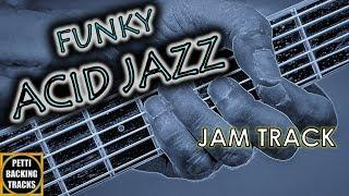 Funky Acid Jazz 2-5-1 Guitar Backing Track Jam in C Major