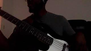 "J Crump playing bass cover to ""funky dream"" by donald hayes /marcus miller"