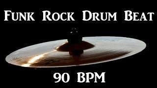 Funk Rock Drum Track 90 BPM Funky Groove Bass Guitar Backing Loop #230