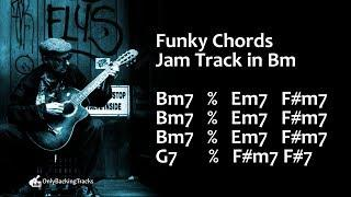Cool Funky Groove Backing Track (B Minor) 110 Bpm