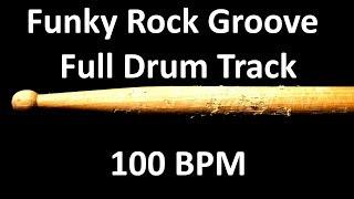 Funky Rock Groove Drum Beat 100 BPM Bass Guitar Backing Track #227