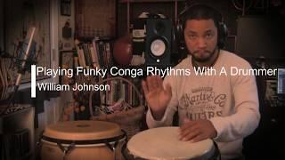 Conga Tutorial; Funky Conga Rhythm With a Drummer
