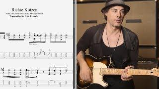 Richie Kotzen - Funky rhythm lick from DiMarzio demo - Best lick (animated tab - Fast & slow)