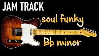 Soul Funky Ballad Guitar Backing Track Jam in Bb minor