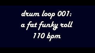 Backing Track - Funky Drum Loop 110 BPM (Royalty free)
