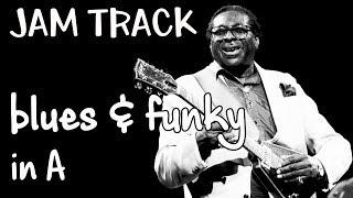 Bluesy Funky Groove Albert King Guitar Backing Track Jam in A blues