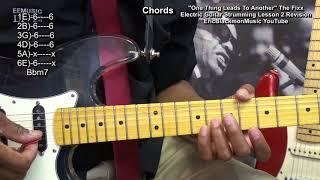 How To Play ONE THING LEADS TO ANOTHER The Fix Funky Strumming Guitar #2  Revised Lesson