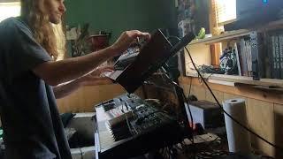 Moog Grandmother Synth Funk w/Behringer deepmind12 + Korg Volca Sample