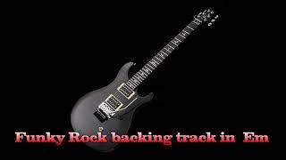 Funky Rock backing track in  Em