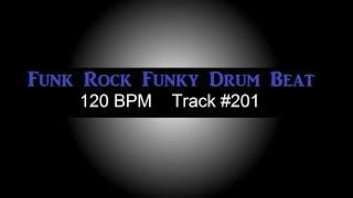 Funk Rock Groove Drum Beat 120 BPM Funky Drum Track For Bass Guitar Loop